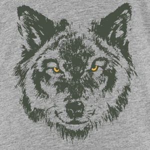Wolf with yellow eyes - hand-drawn style Kids' Shirts - Kids' Premium T-Shirt