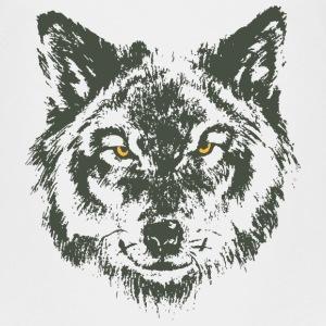 Wolf with yellow eyes - hand-drawn style Baby & Toddler Shirts - Toddler Premium T-Shirt