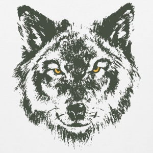 Wolf with yellow eyes - hand-drawn style Sportswear - Men's Premium Tank