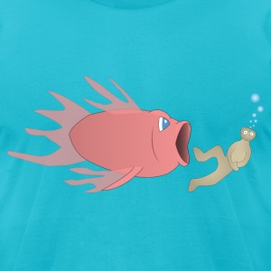 Bigger Fish - Men's T-Shirt by American Apparel