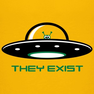 UFO with Alien - They exist Baby & Toddler Shirts - Toddler Premium T-Shirt