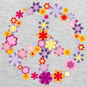 Peace symbol with flowers Sportswear - Men's Premium Tank