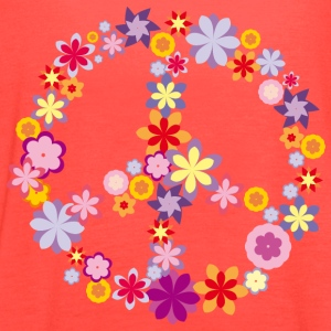 Peace symbol with flowers Tanks - Women's Flowy Tank Top by Bella