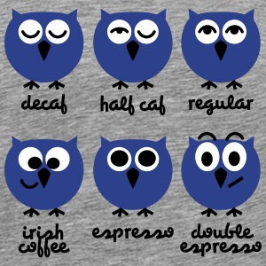 Funny Owls with Coffee Chart T-Shirts T-Shirts - Men's Premium T-Shirt