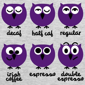 Funny Owls with Coffee Chart T-Shirts Sportswear - Men's Premium Tank