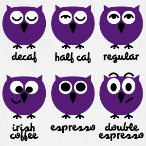 Funny Owls with Coffee Chart T-Shirts Aprons - Adjustable Apron