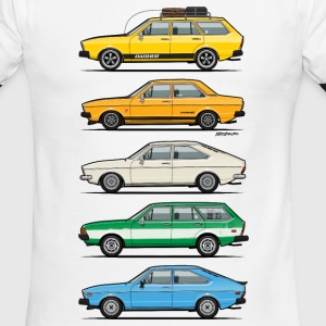 Stack of VAG B1 VDubs and Four Rings T-Shirts - Men's Ringer T-Shirt