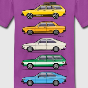 Stack of VAG B1 VDubs and Four Rings Kids' Shirts - Kids' Premium T-Shirt