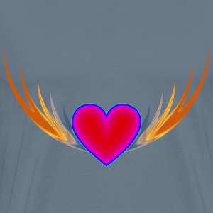 Flying Heart 2 - Men's Premium T-Shirt