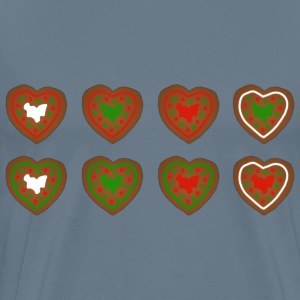 Assorted Gingerbread Heart Cookies - Men's Premium T-Shirt
