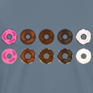Assorted Plain Frosted Donuts - Men's Premium T-Shirt