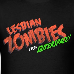Lesbian Zombies from Outer Space logo t-shirt - Men's T-Shirt