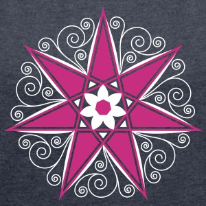 Elven Star, Perfection & Protection, Fairy, Magic  - Women's Roll Cuff T-Shirt