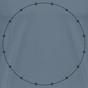 Barbed Wire Circle Frame Border - Men's Premium T-Shirt