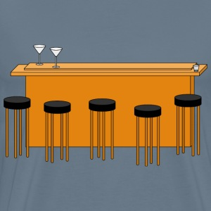 bar with stools - Men's Premium T-Shirt