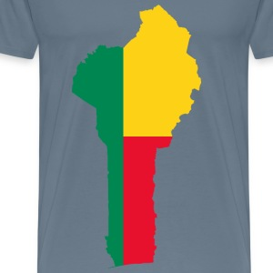 Benin Flag Map - Men's Premium T-Shirt