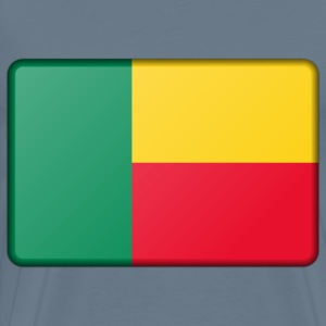 Benin flag (bevelled) - Men's Premium T-Shirt