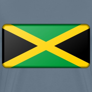 Jamaica flag (bevelled) - Men's Premium T-Shirt