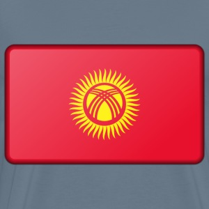 Flag of Kyrgyzstan (bevelled) - Men's Premium T-Shirt