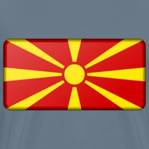 Macedonia flag (bevelled) - Men's Premium T-Shirt