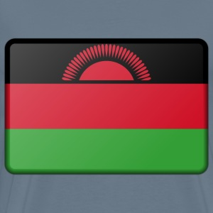 Malawi flag (bevelled) - Men's Premium T-Shirt