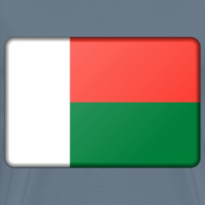 Madagascar flag (bevelled) - Men's Premium T-Shirt