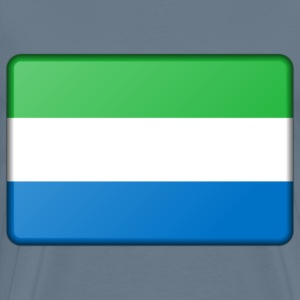 Sierra Leone flag (bevelled) - Men's Premium T-Shirt