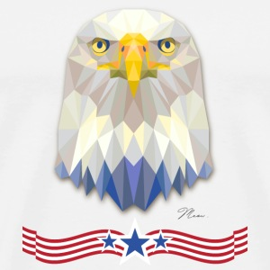 US Eagle with Banner - by MEOW T-Shirts - Men's Premium T-Shirt