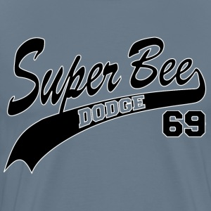 69 Super Bee - White Outline - Men's Premium T-Shirt
