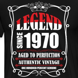 Legend since 1970 Aged to Perfection Authentic Vin T-Shirts - Men's Premium T-Shirt