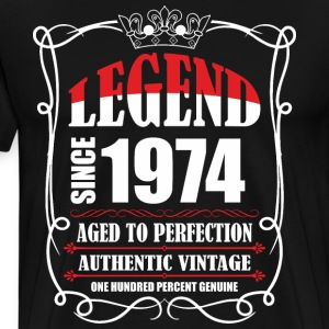 Legend since 1974 Aged to Perfection Authentic Vin T-Shirts - Men's Premium T-Shirt
