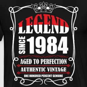 Legend since 1984 Aged to Perfection Authentic Vin T-Shirts - Men's Premium T-Shirt