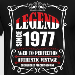 Legend since 1977 Aged to Perfection Authentic Vin T-Shirts - Men's Premium T-Shirt