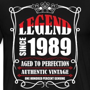 Legend since 1989 Aged to Perfection Authentic Vin T-Shirts - Men's Premium T-Shirt
