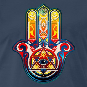Hamsa Hand Of Fatima, Khamsa, Pyramid Eye T-Shirts - Men's Premium T-Shirt