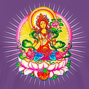 Tara - Tibet Buddhism, Lotus, Meditation, Yoga, Om - Men's Premium T-Shirt