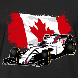 Formula One - Formula 1 - Canada Flag T-Shirts - Fitted Cotton/Poly T-Shirt by Next Level
