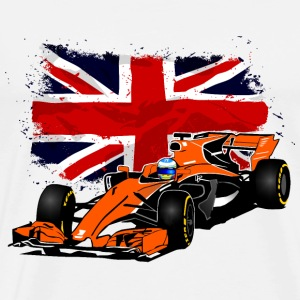 Formula One - Formula 1 - UK Flag T-Shirts - Men's Premium T-Shirt