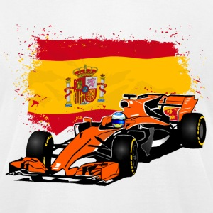 Formula One - Formula 1 - Spain Flag T-Shirts - Men's T-Shirt by American Apparel