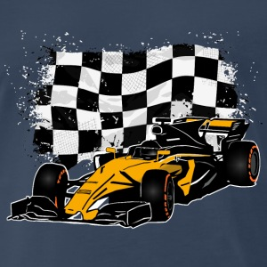 Formula One - Formula 1 - Racing Flag T-Shirts - Men's Premium T-Shirt