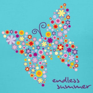 Flower Butterfly Endless Summer T-Shirts - Women's V-Neck T-Shirt