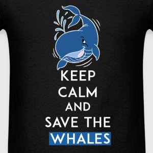 Whales - Keep Calm and save the whales  - Men's T-Shirt