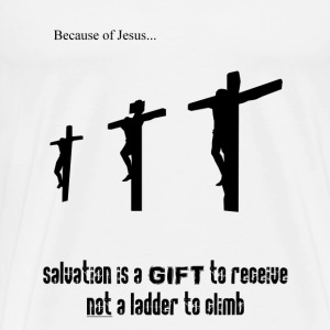 Because of Jesus  - Men's Premium T-Shirt