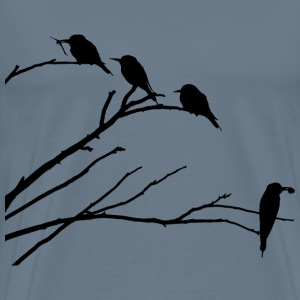 European Bee Eaters Silhouette - Men's Premium T-Shirt