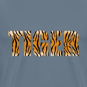 Tiger Typography Enhanced - Men's Premium T-Shirt