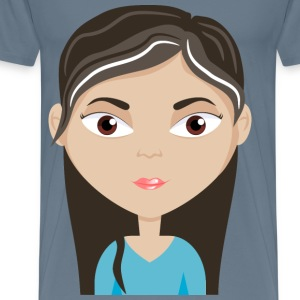 Female cartoon avatar - Men's Premium T-Shirt