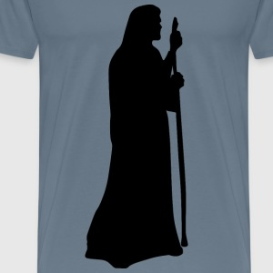 Jesus The Shepherd Silhouette - Men's Premium T-Shirt