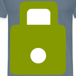 Solarized Green Lock - Men's Premium T-Shirt