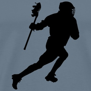Lacrosse Player Silhouette - Men's Premium T-Shirt