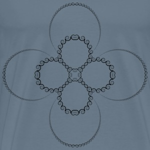 Abstract Spiral Design 5 - Men's Premium T-Shirt